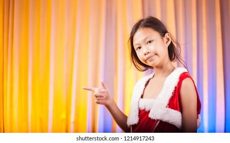 Little Girl in Santa Costume