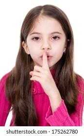 little girl say silence is a secret