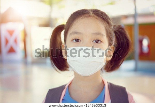 Photo edit Little Stock Now Girl Wearing Surgical School Uniform