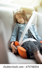 little girl sleeping in child Booster Seats