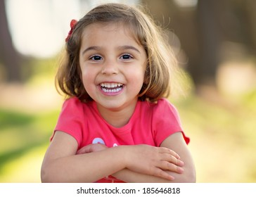 Little Girl Smiling in the Camera