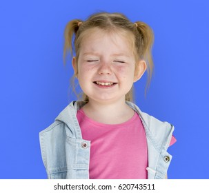 Little GIrl Smiling Happiness Playful Twintail Hairstyle