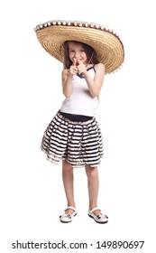 Little girl in sombrero