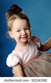 little girl in studio shooting