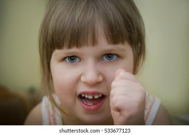 little girl swears