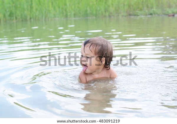 Little Girl Swimming Under Water Stock Footage Video (100%