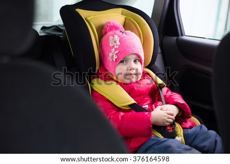 179e58536 Little Girl Three Years Winter Red Stock Photo (Edit Now) 376164598 ...