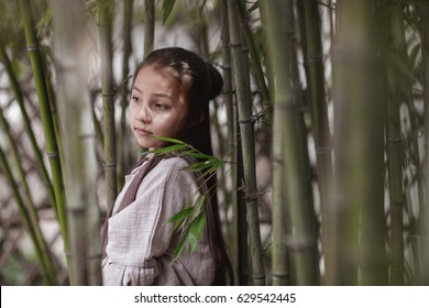 little girl in traditional Chinese clothes