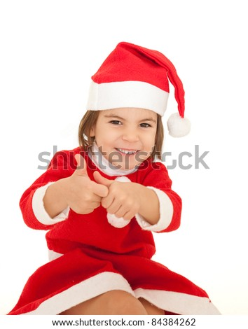 46421f60f Little Girl Wearing Santa Clothes Isolated Stock Photo (Edit Now ...