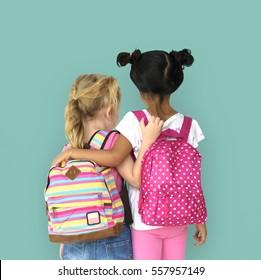 Little Girls Backpack Back View