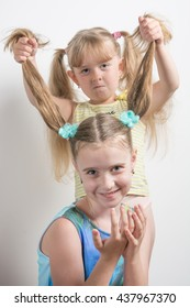 little girls dabble and have fun