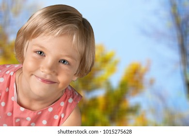 Little Girls on natural background