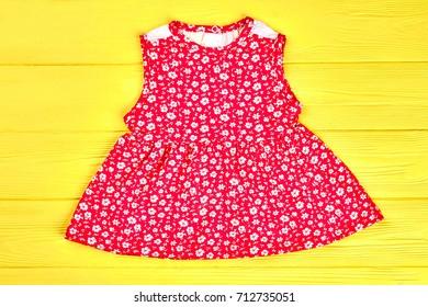 4cd485df694c Red Cotton Babygirl Summer Dress Beautiful Stock Photo (Edit Now ...