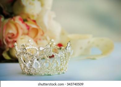 Little girls shiny crown