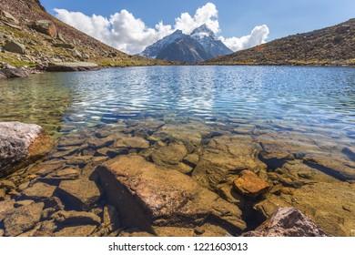 Little glacier lake in Valpelline, Bionaz, Aosta, Italy