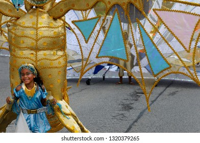 Little gold bird Queen of the Band at the Junior Caribana Parade in Toronto, Ontario, Canada - July 19, 2008