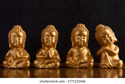 The Little Golden Buddha. The Buddha, also known by his real name as Siddhartha Gautama, was the founder of Buddhism and was born in ancient India. This image shows a miniature Buddha meditating.