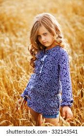 little golden-haired girl