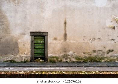Little green door