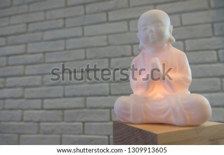 little happy enlightened monk