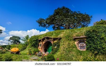 In little Hobbit town, Matamata New Zealand