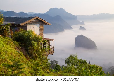 Little Home at Phu Langka National Park in Phayao Province, Thailand