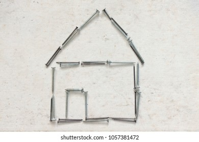 little house made with screws
