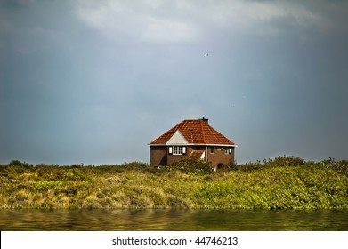 Little house on the dike