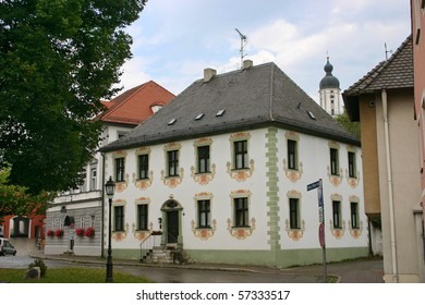 Little house with the ornament on  walls