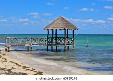 Little hut near cancun