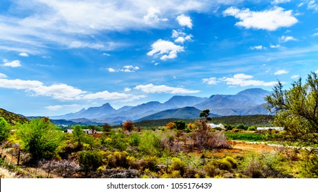The Little Karoo region of the Western Cape Province of South Africa with the majestic Grootswartberg Mountains on the horizon