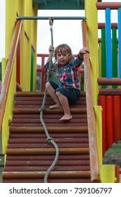 Little kid on playground