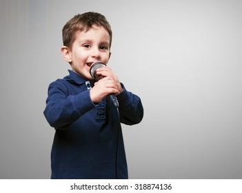 little kid singing