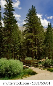 Little Lakes Valley Trailhead in the John Muir Wilderness in the Eastern Sierras near Mammoth Lakes, California