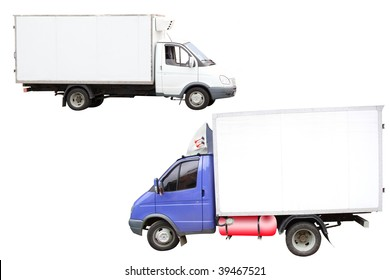 little lorries under the white background