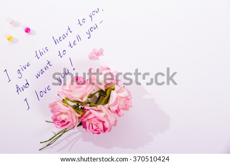Little Love Poem Written On White Stock Photo Edit Now 370510424