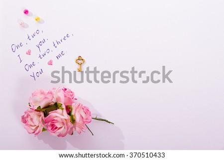 Little Love Poem Written On White Stock Photo Edit Now 370510433