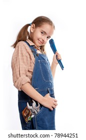 LIttle master girl with wrench