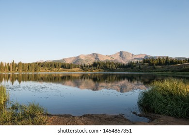 Little Molas Lake Colorado with mountains in the background