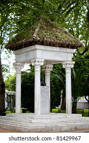 Little monument from Cordoba-Spain-Green House