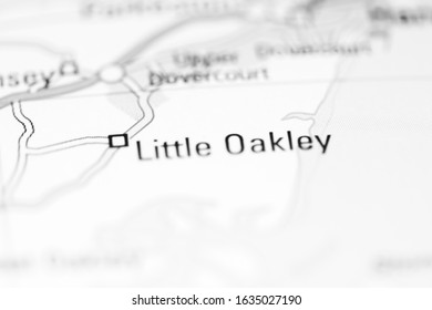 Little Oakley on a geographical map of UK