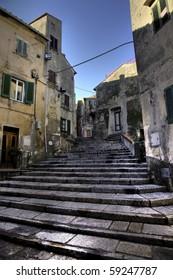 little old town in elba island