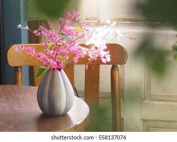 Little pink flower vase