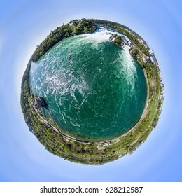 Little Planet Effect Rhine Falls HDR