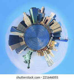 Little planet of New York City