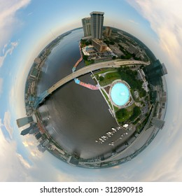 Little Planet view of Downtown Jacksonville, FL