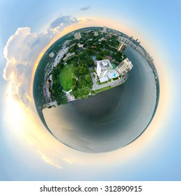 Little Planet View of Jacksonville and Downtown.