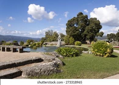 Little pool in Castro Mount park in Vigo, Pontevedra, Galicia, Spain.