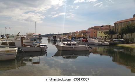Little port and boats in Zadar (Croatia)