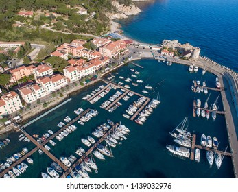Little port view from above.  Holidays in Tuscany, Italy